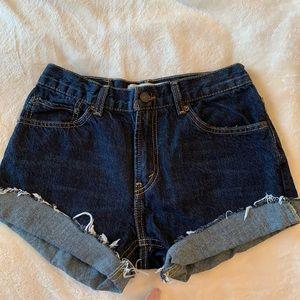 Levi's 501 Jean short cut offs